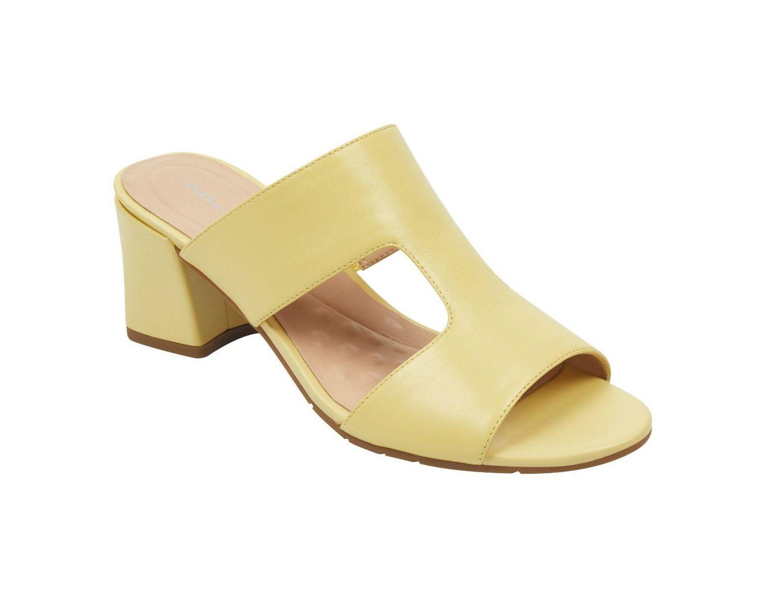6aca7c85cfd Women's Yellow Gigi Slip-on Chunky Heel Mules