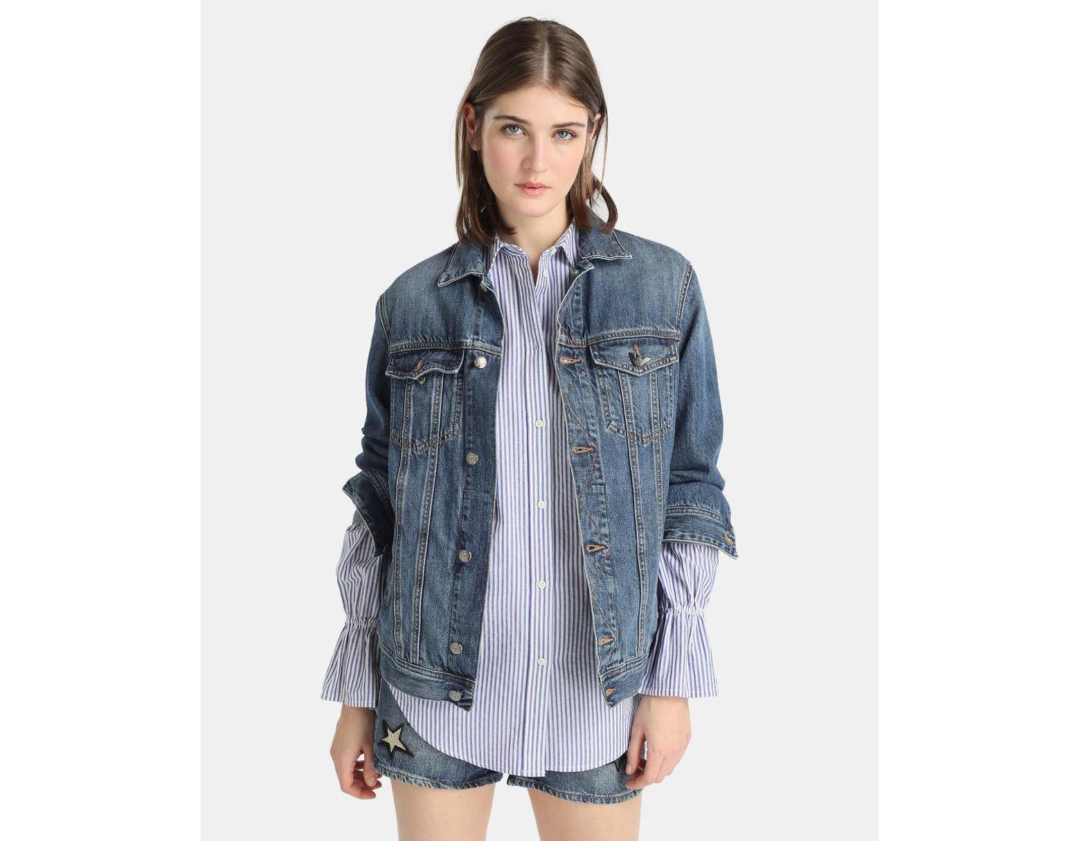 détaillant en ligne 681f9 9cdbe Women's Blue Veste En Jean Oversize Femme