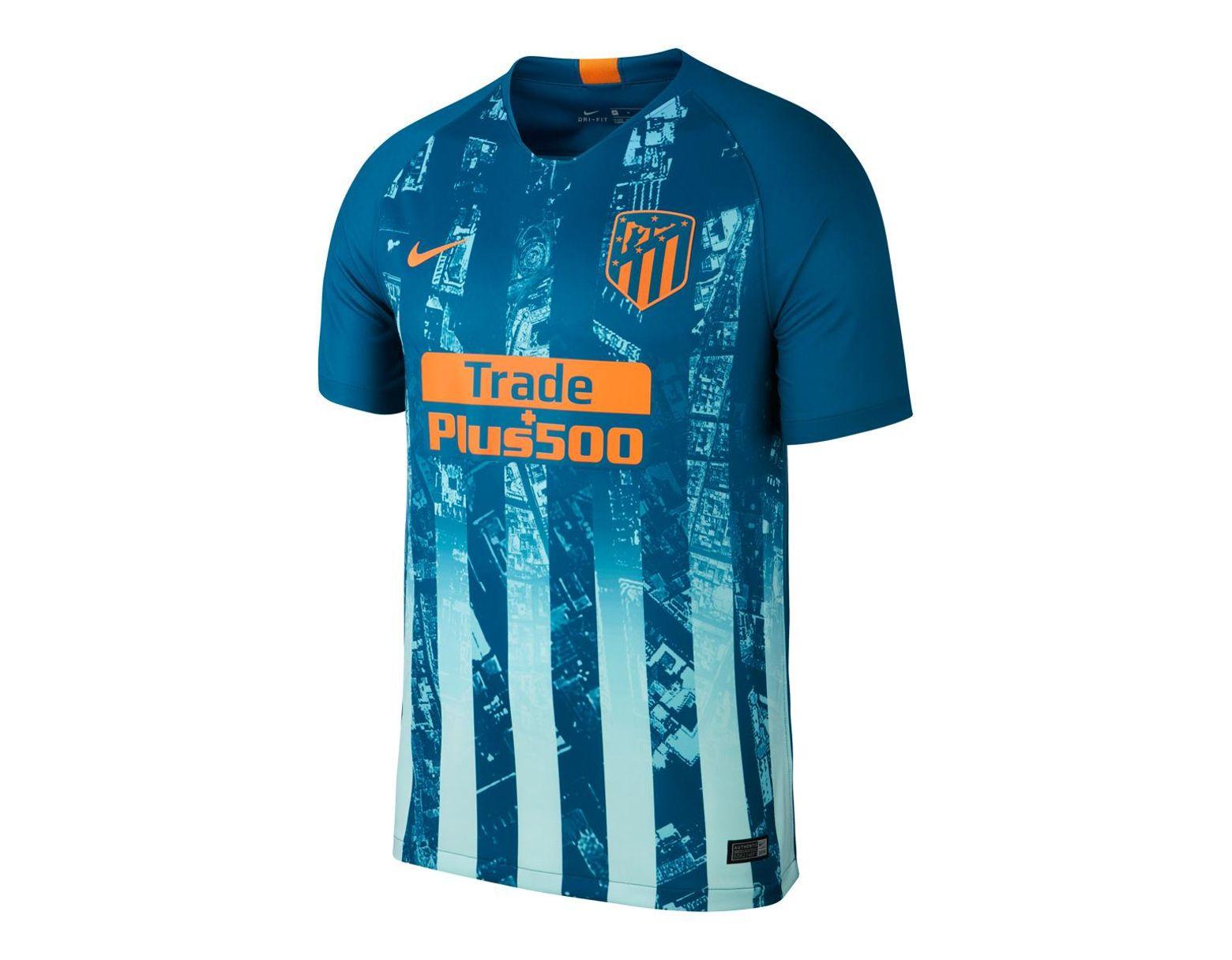 ff4b5a2eb9b Nike Atlético De Madrid 2018-2019 Breathe Stadium Third Kit Shirt in Blue for  Men - Save 17% - Lyst
