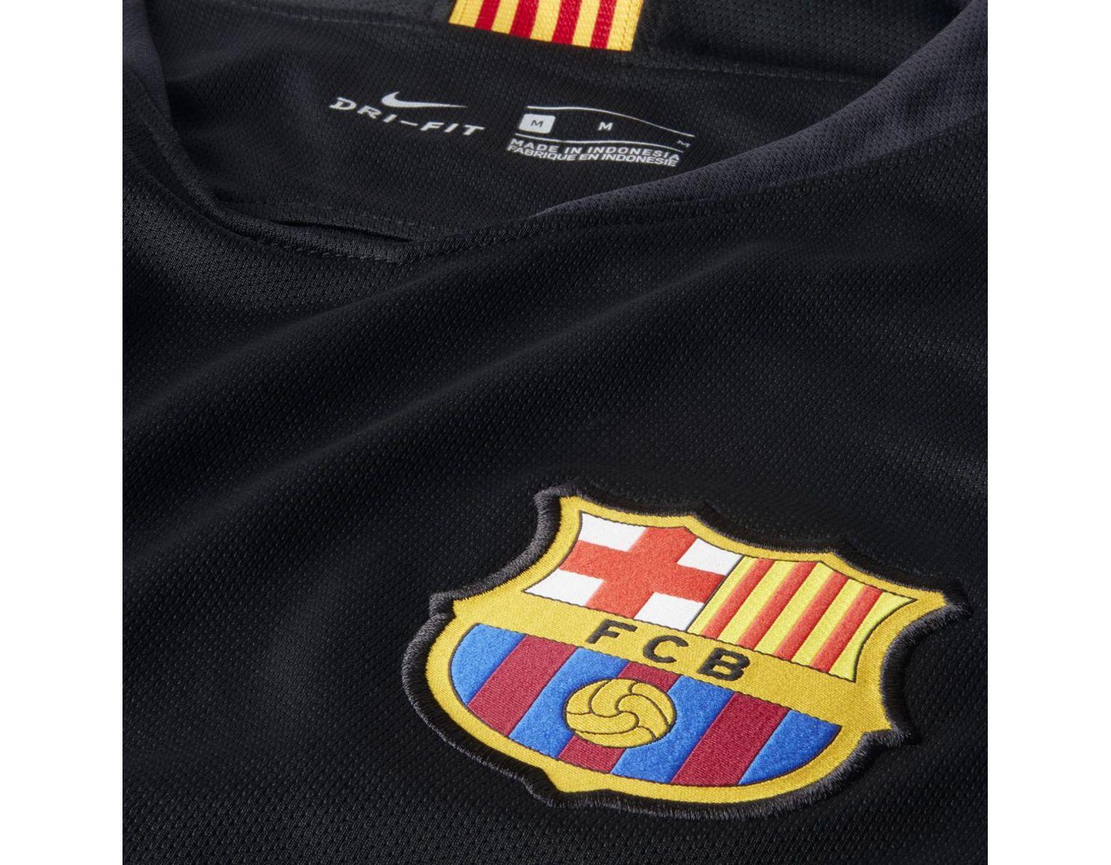 f04238f47 Nike Fc Barcelona 2018-2019 Breathe Stadium Goalkeeper T-shirt in Black for  Men - Lyst