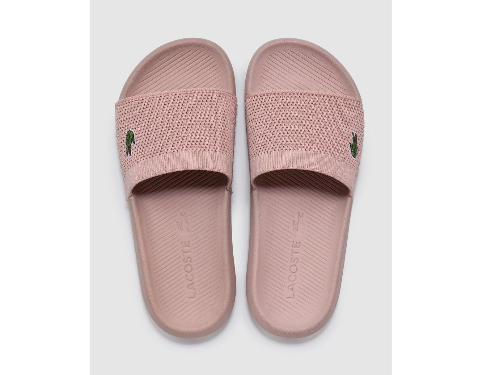 Pink Fabric Pool Mesh Save 38Lyst In Lacoste Sandals OZiTwXulPk