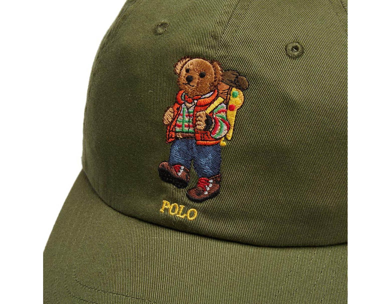 the latest df84e eaac4 Polo Ralph Lauren Hiking Bear Cap in Green for Men - Save 21% - Lyst