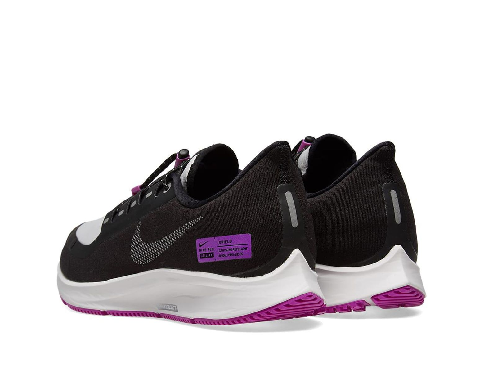 af71be9a9bff Nike Air Zoom Pegasus 35 Shield in Black for Men - Save 48% - Lyst