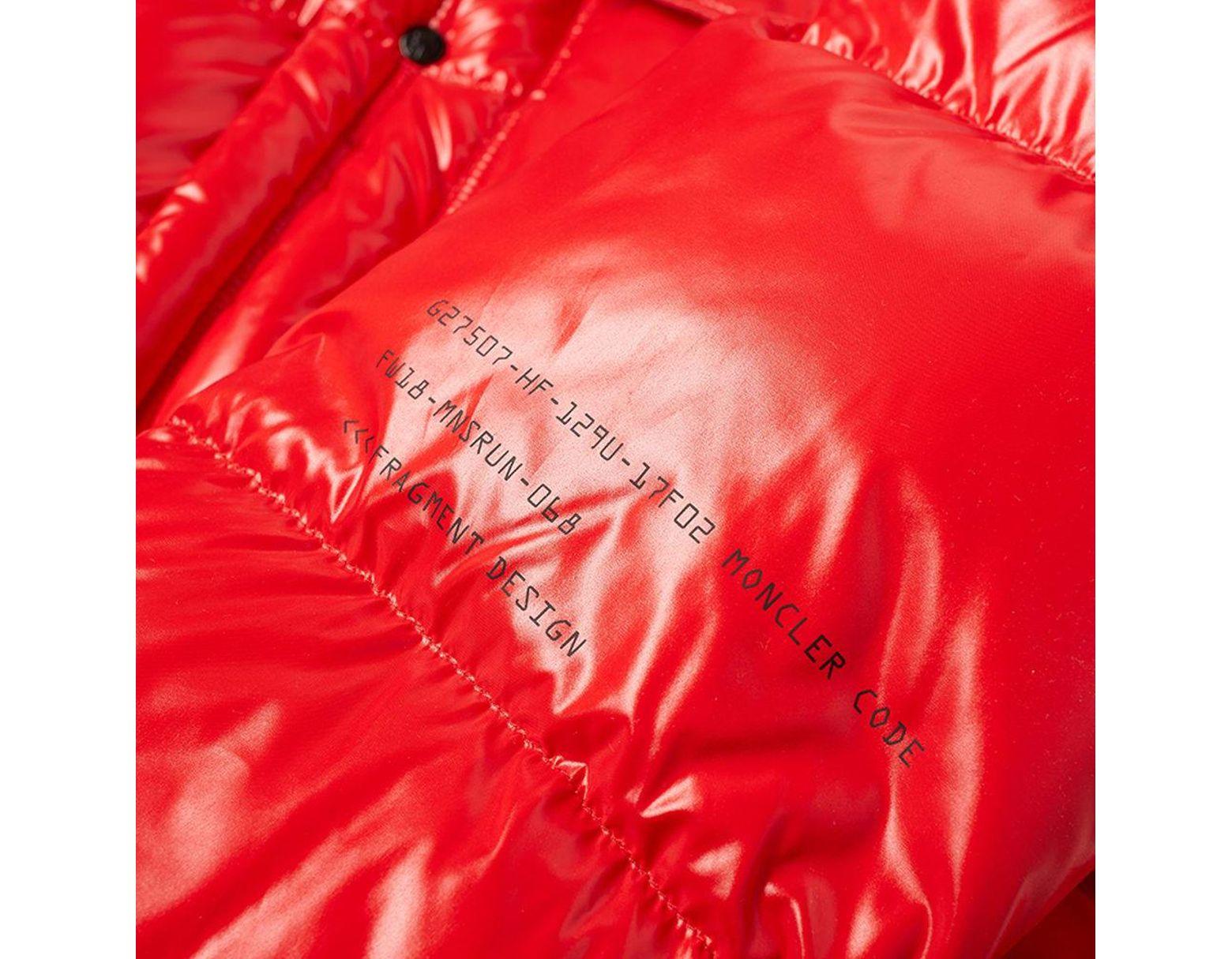 7b6207fa3 Red - 7 Moncler Fragment Hiroshi Fujiwara - Anthem Jacket