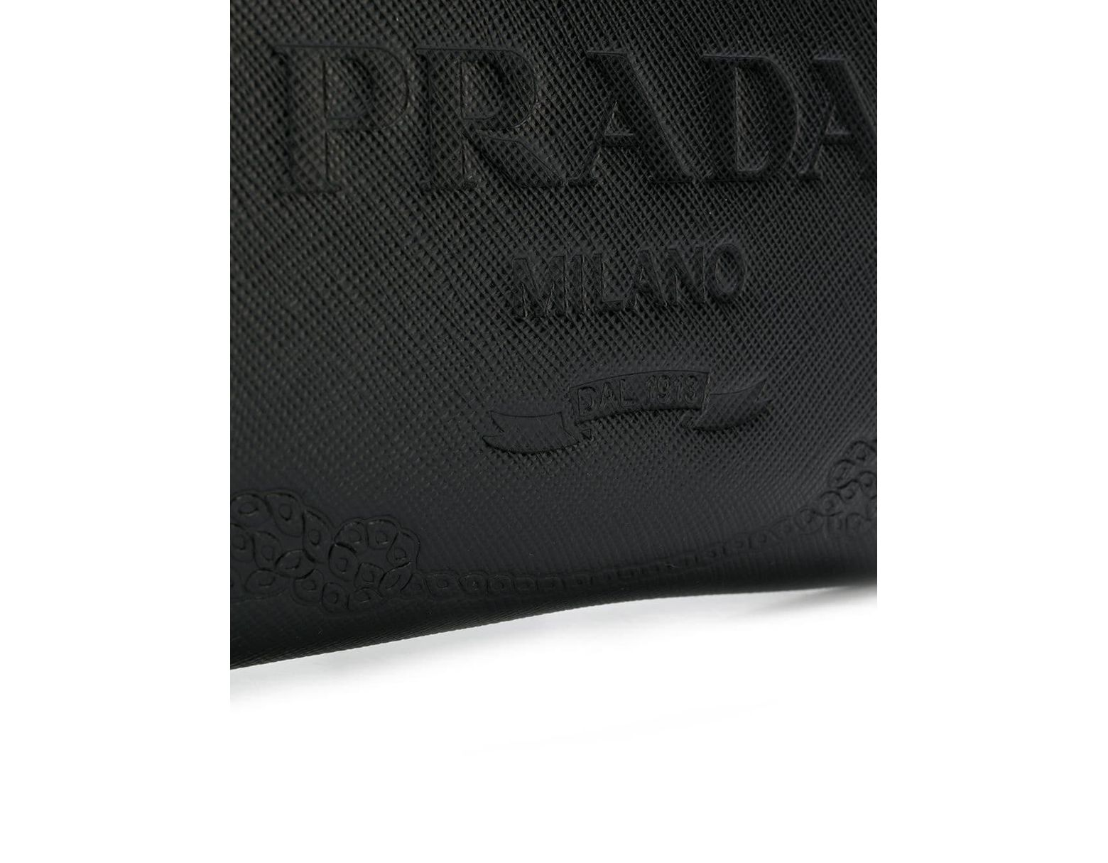 Lyst À Documents Porte Plaque Logo Homme Coloris Noir Prada Pour En trChQxsd