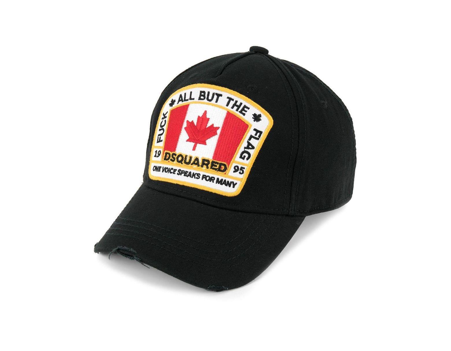 76208f1d9 Men's Black Canadian Flag Patch Baseball Cap
