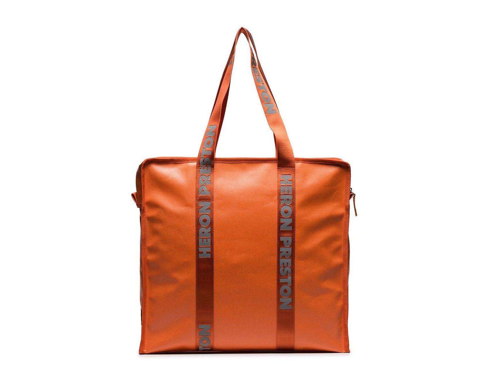 7547e4dca6 Sac cabas oversize Heron Preston pour homme en coloris Orange - Lyst