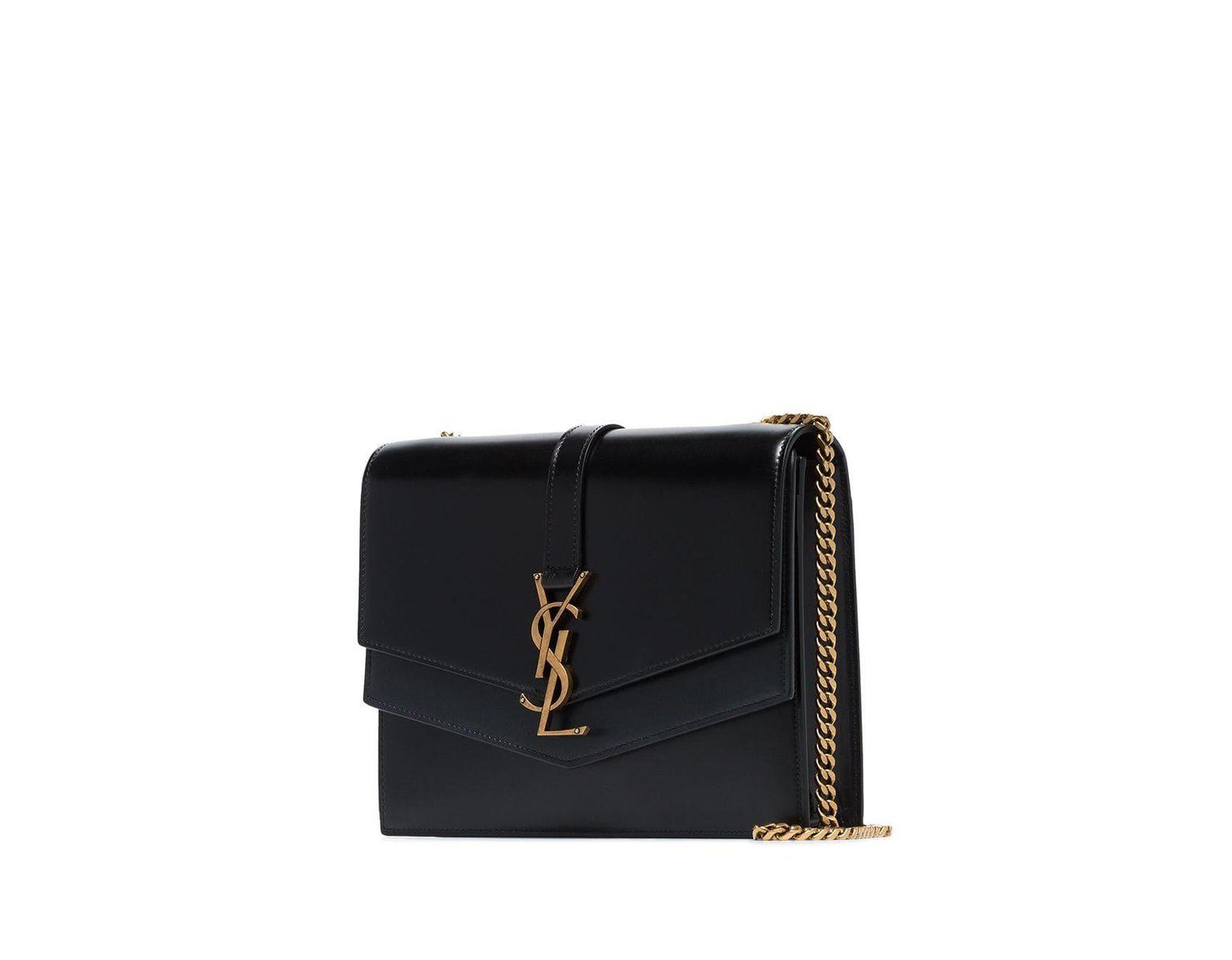 de629ef6e4e Saint Laurent Black Montaigne Leather Shoulder Bag in Black - Lyst