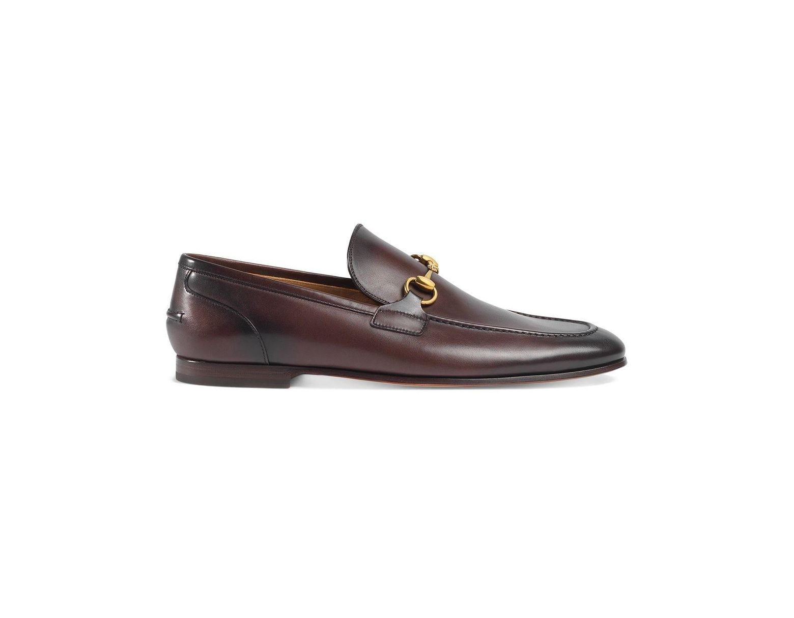 86099941c Gucci Jordaan Leather Loafer in Brown for Men - Save 12% - Lyst