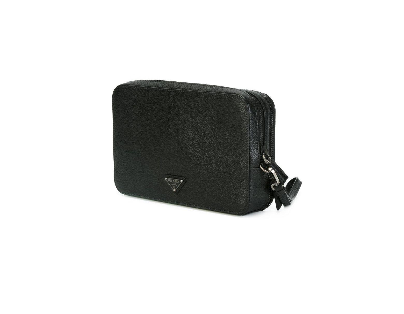 602639a7877f Prada - Hand-strap Clutch - Men - Calf Leather - One Size in Black for Men  - Lyst