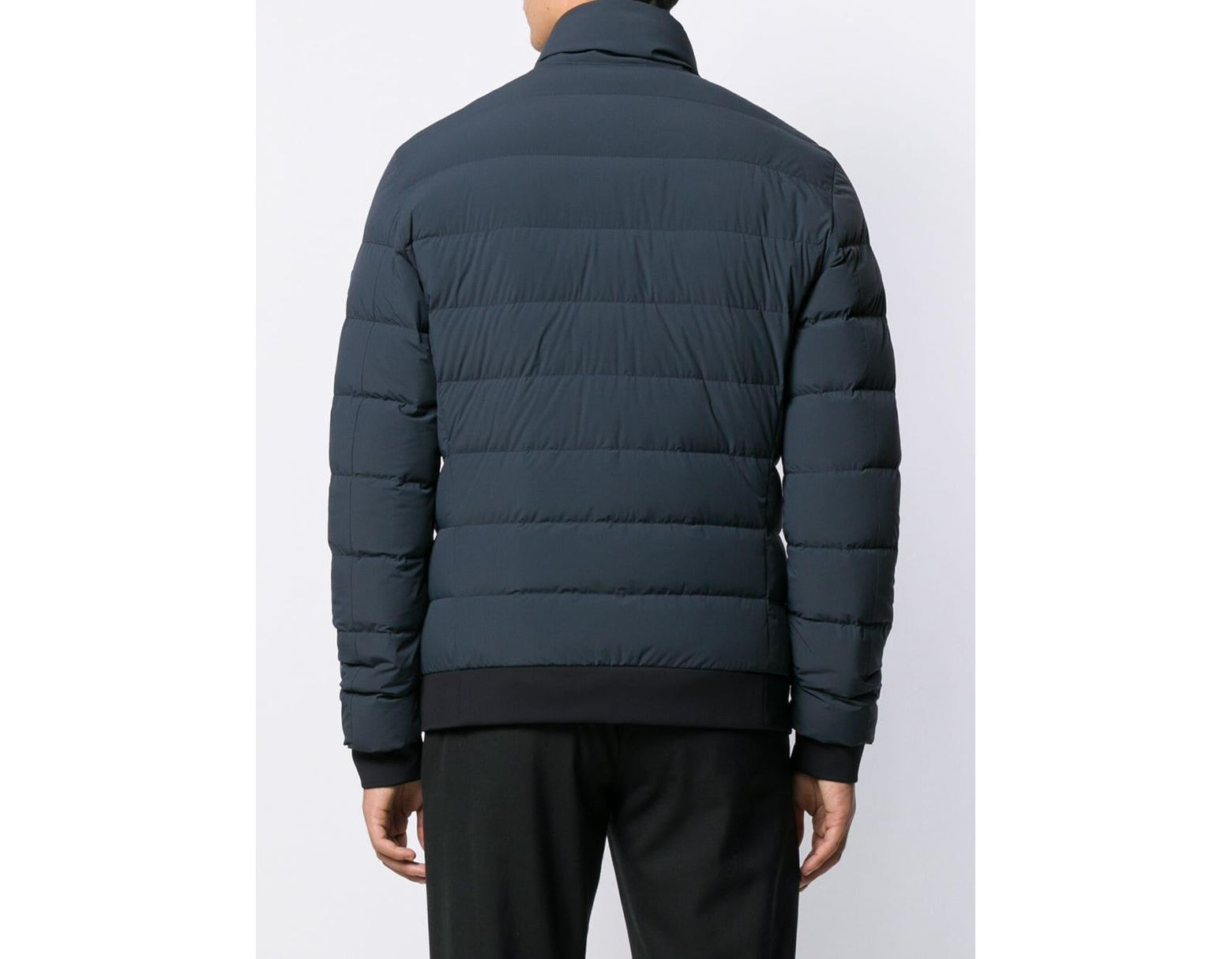 pretty nice b1f13 bac1d Men's Blue Feather Down Bomber Jacket