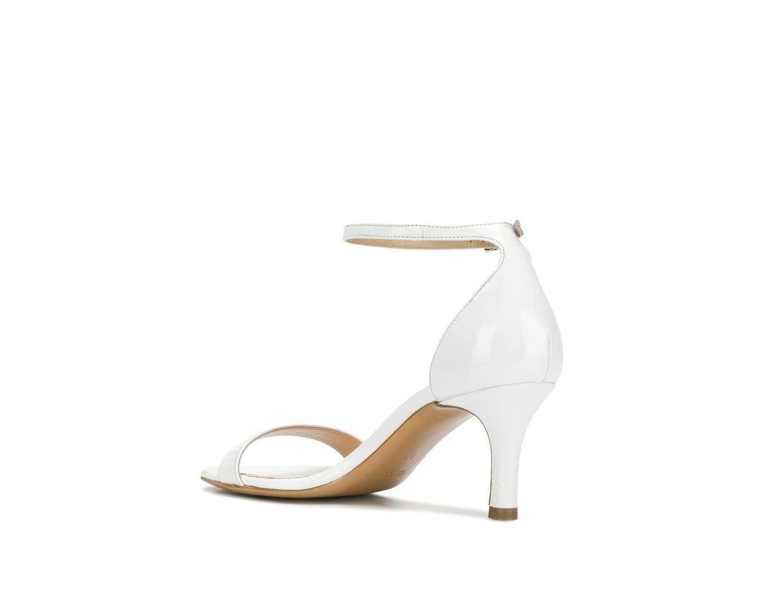 Antonio Barbato Heel In Mid White Givyybf76 Sandals Lyst hQdtrs