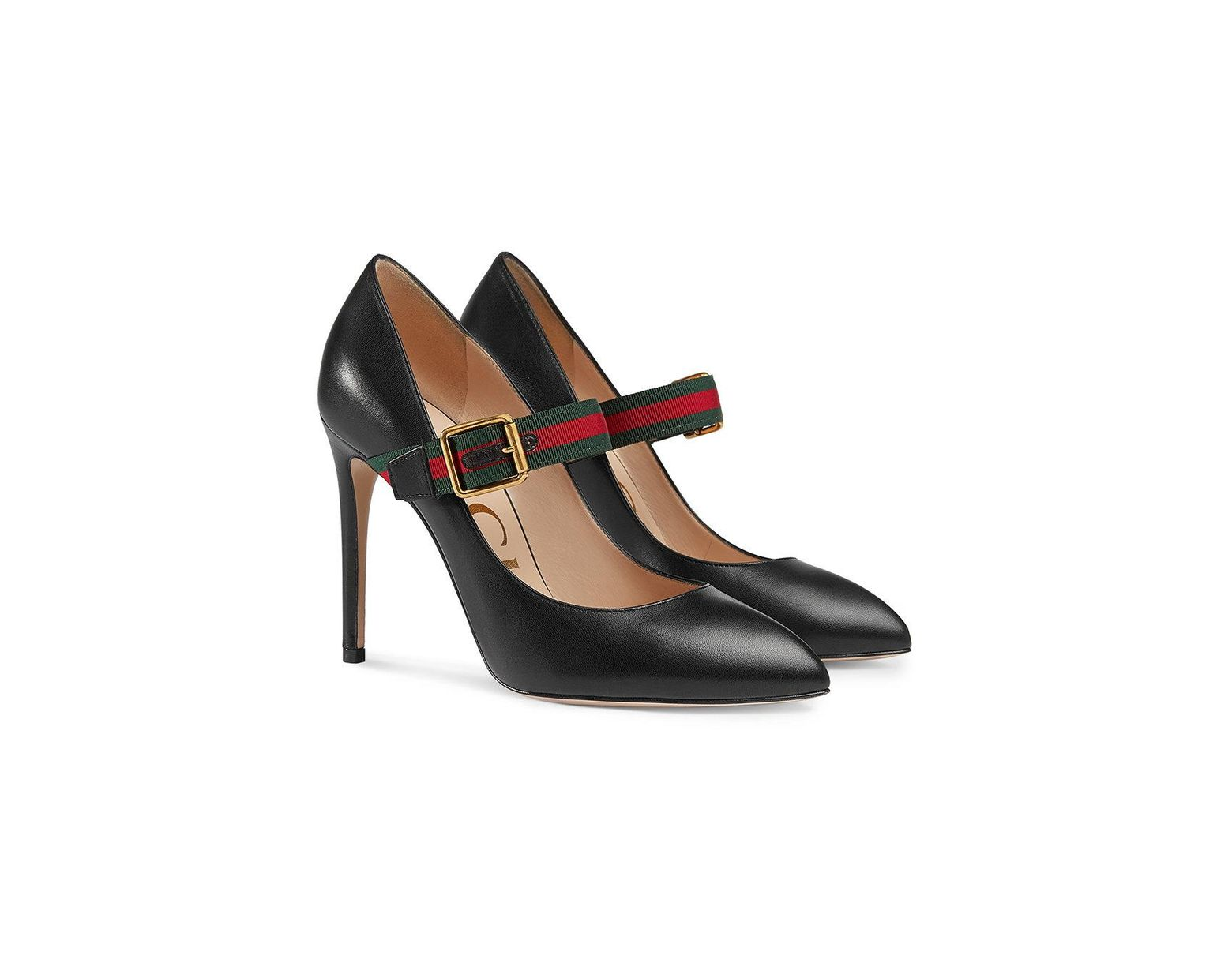 551518edaed Lyst - Gucci Sylvie Leather Mid-heel Pumps in Black