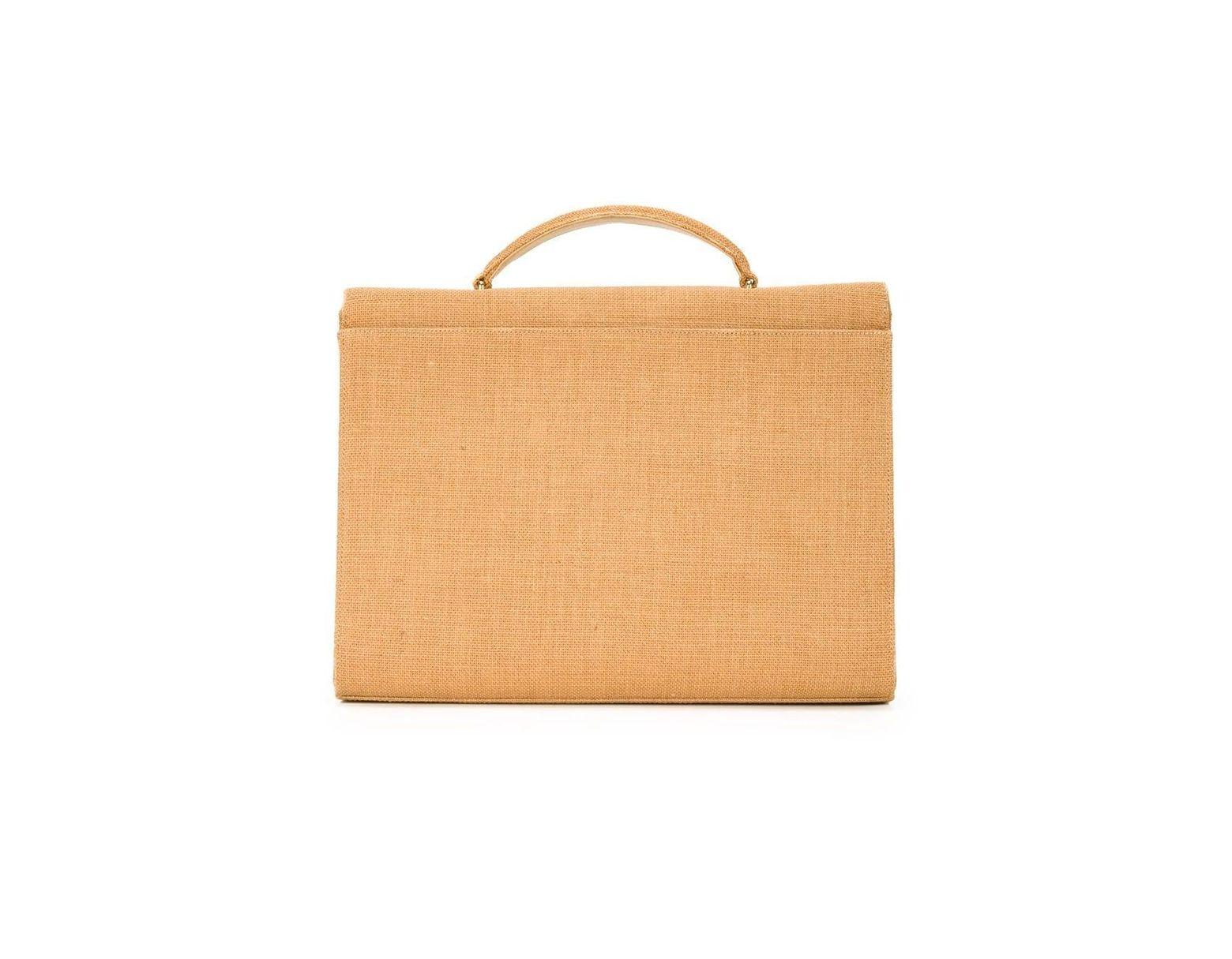 seleccione para el último mayor descuento aliexpress Maletín de rafia Chanel Pre-Owned de color Marrón - Lyst