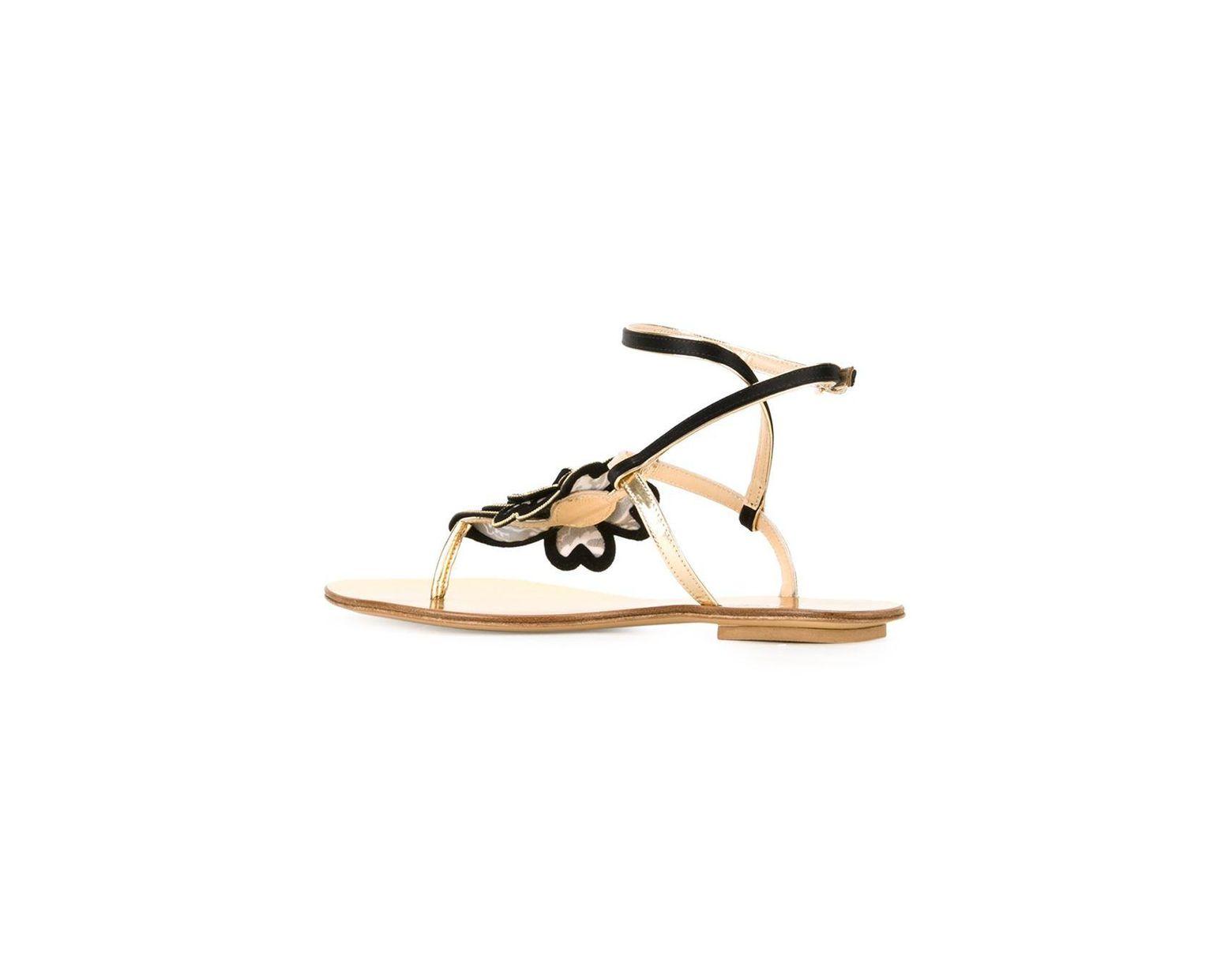 Metallic Flower Etro Flat In Lyst Sandals fymYgI7b6v