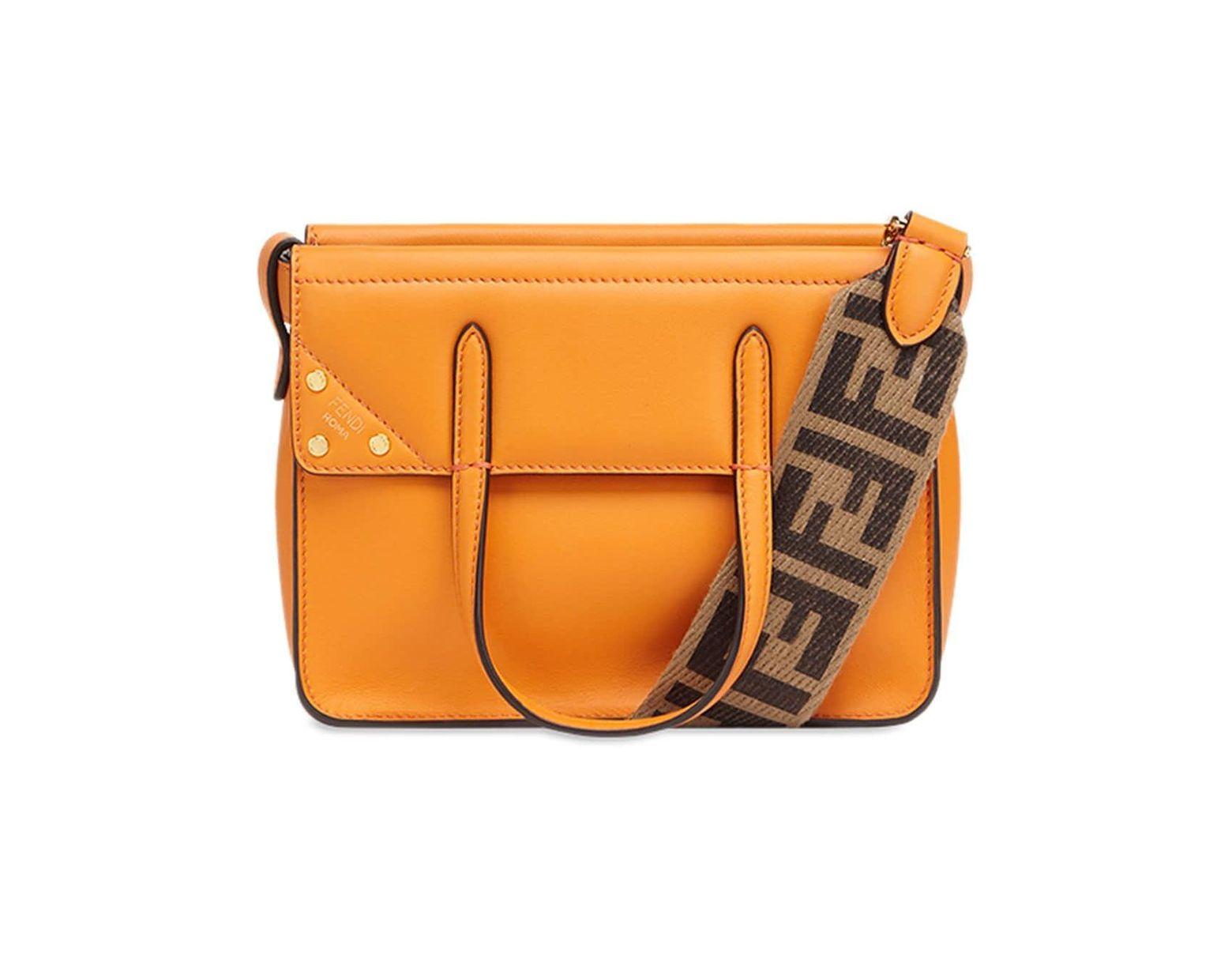 Femme Orange Mini Coloris Main Sac De Flip À lPZiTwOkuX
