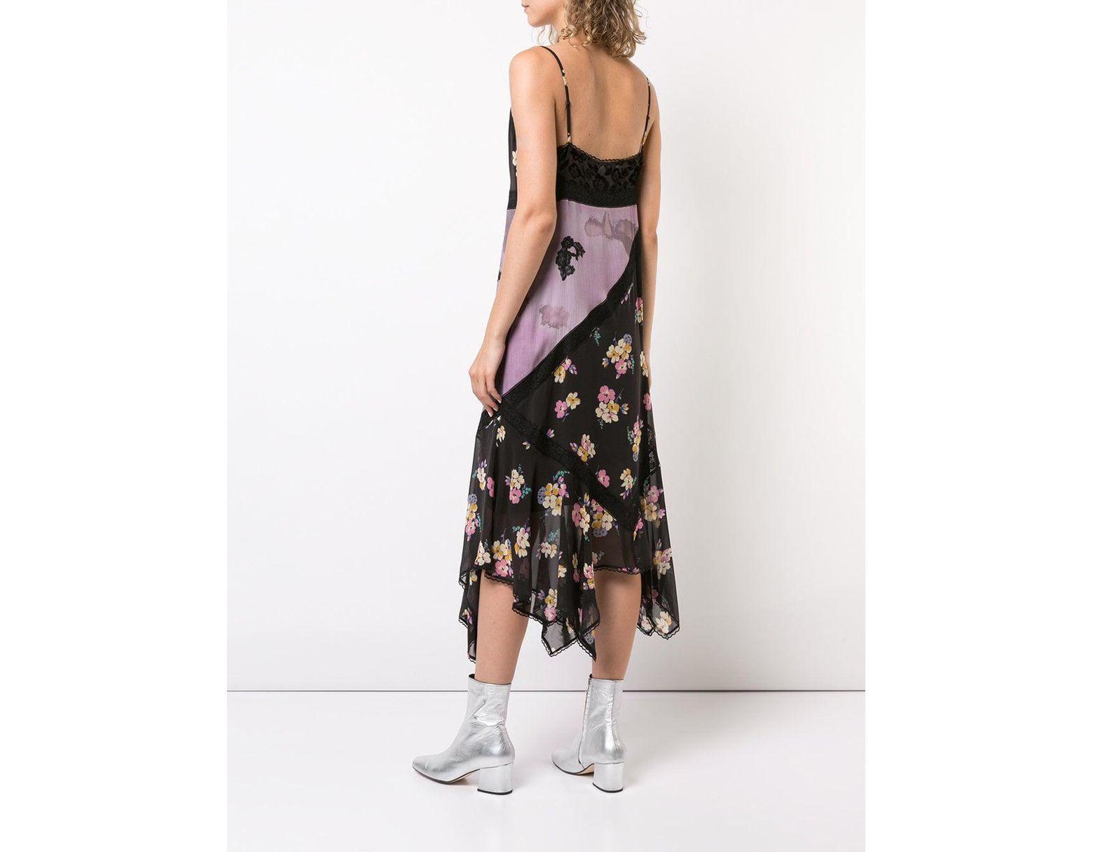 efb1c0de98 COACH Mixed Print Slip Dress in Pink - Lyst