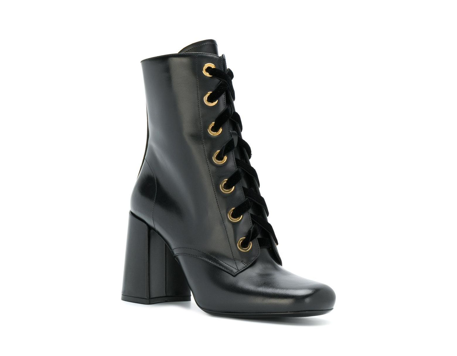 06556d9edee Women's Black High Heel Lace-up Booties