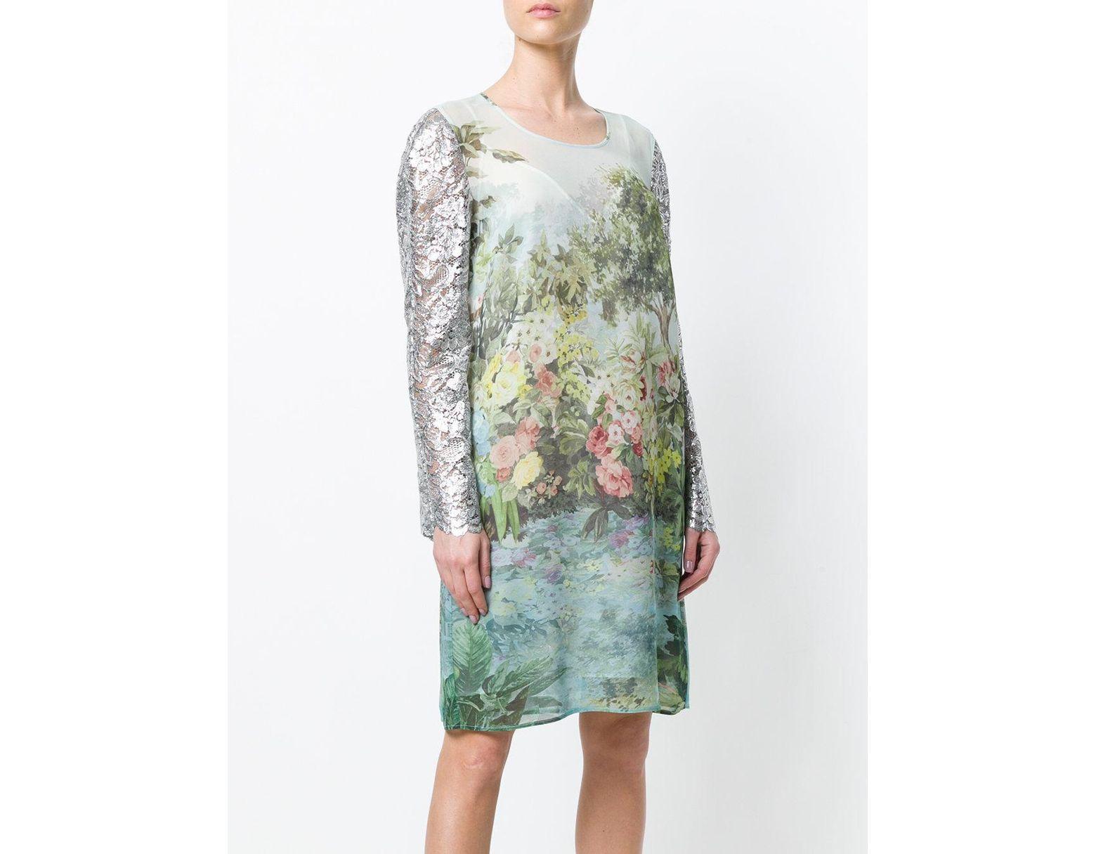 Robe À Midi Femme Fleurs Coloris Vert De UpVLqzjMSG