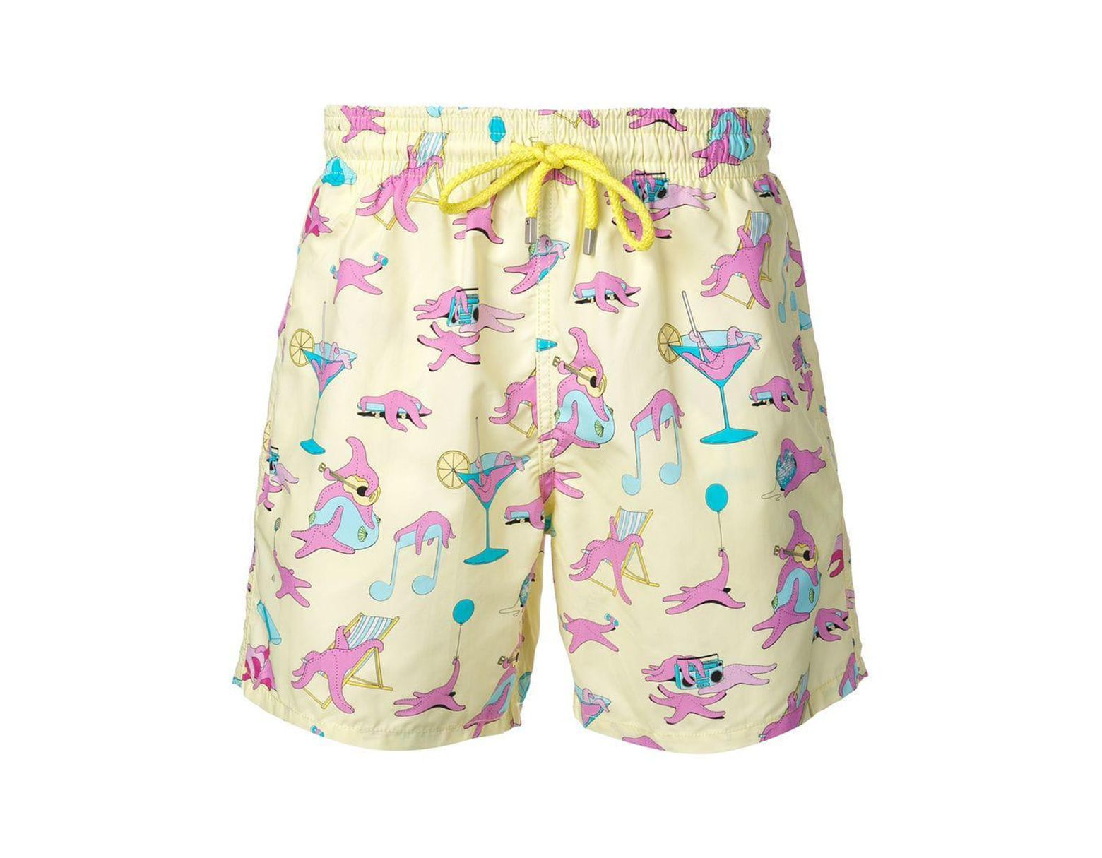 7c1bb881eb Lyst - Vilebrequin Printed Swimming Trunks in Yellow for Men