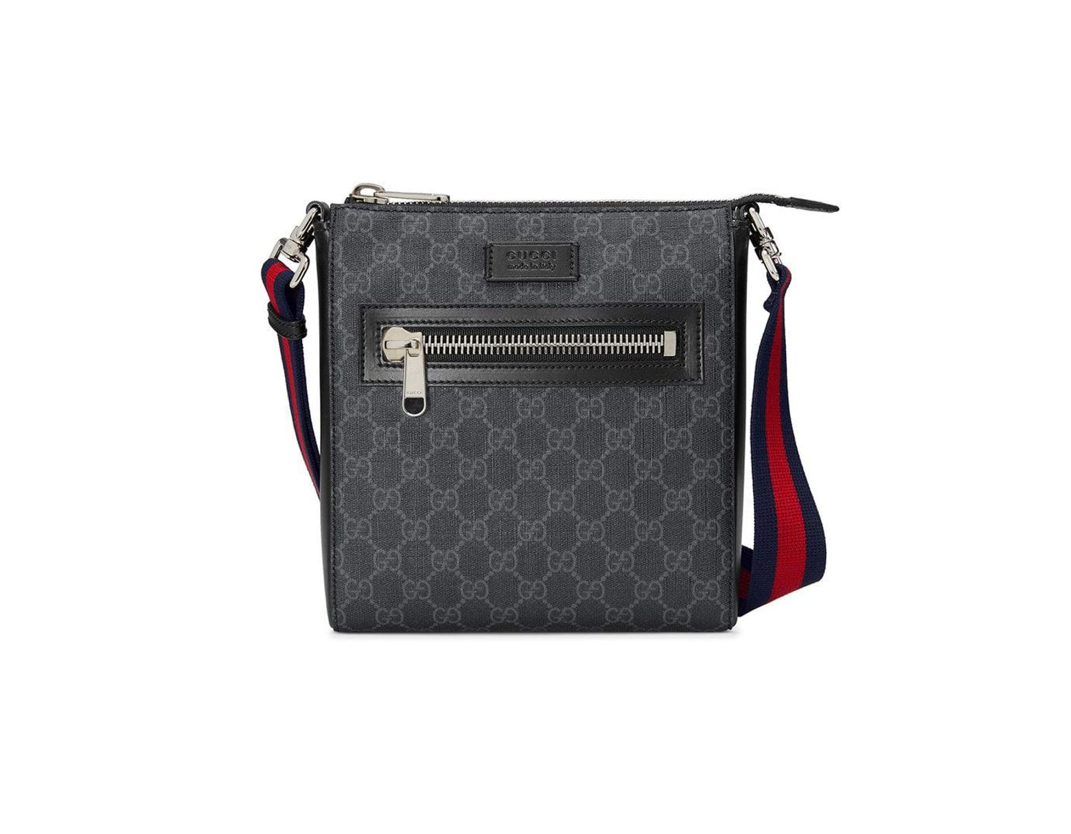 0d3d40a9ba7bab Gucci GG Supreme Small Messenger Bag in Black for Men - Save 15% - Lyst