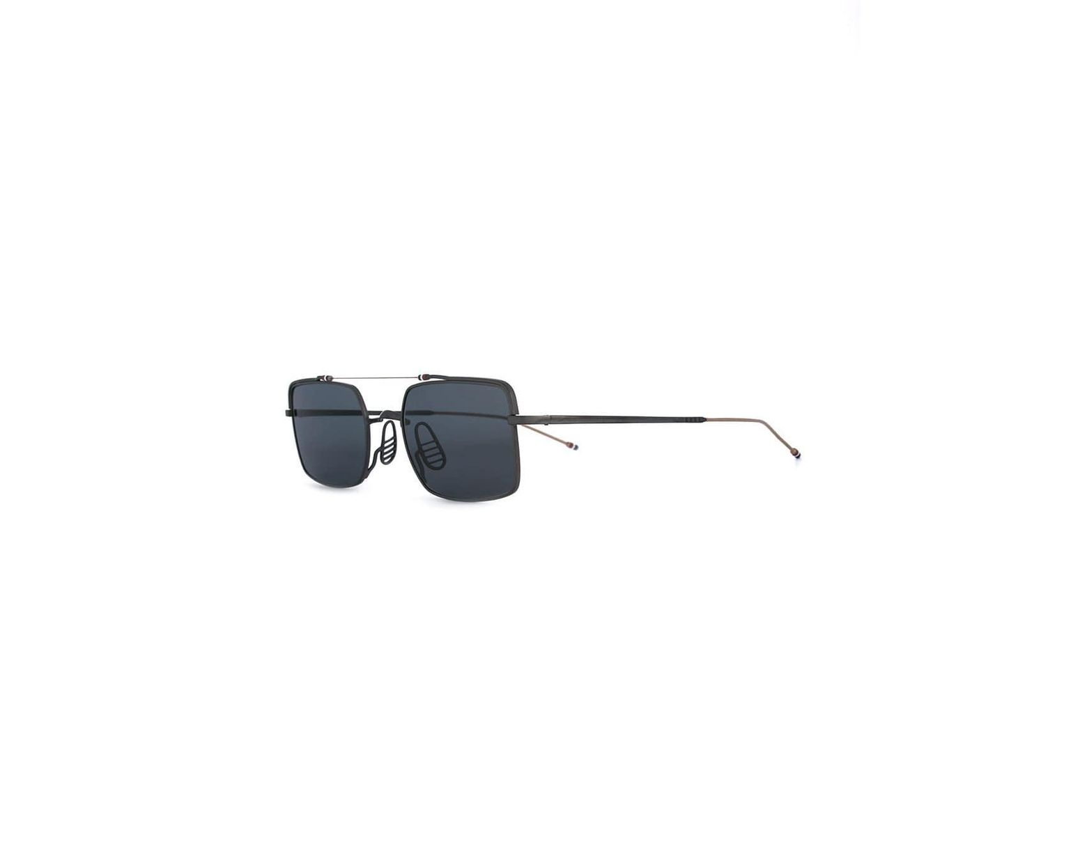 08d3364b46b5 Thom Browne Rectangle Frame Sunglasses in Black for Men - Lyst