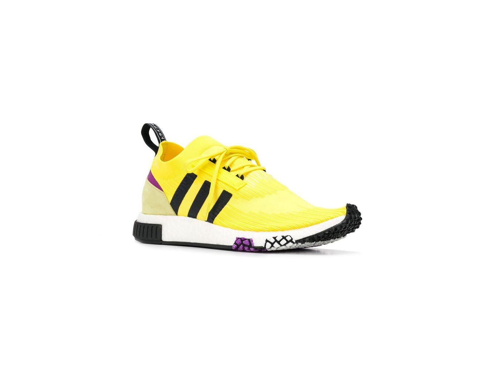 2de0625422100 Lyst - adidas Yellow And Black Nmd Racer Sneakers in Yellow for Men