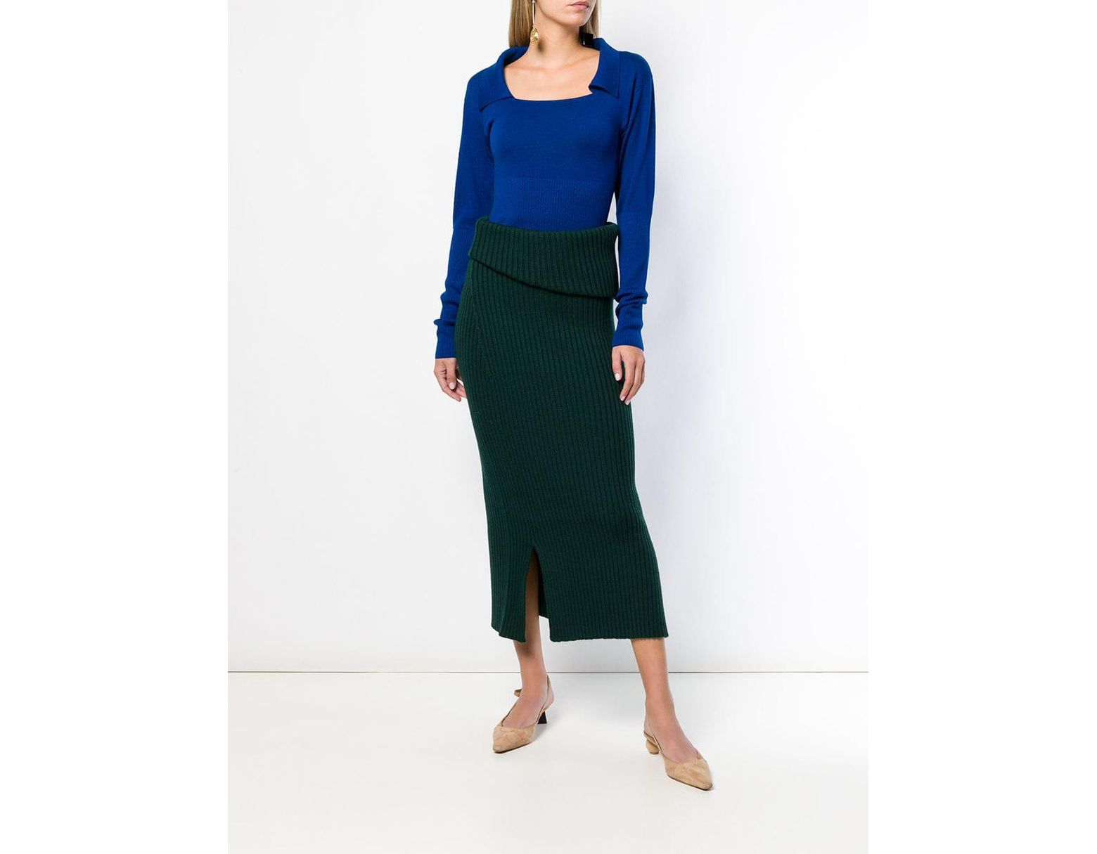 Pull Praio femme de coloris bleu