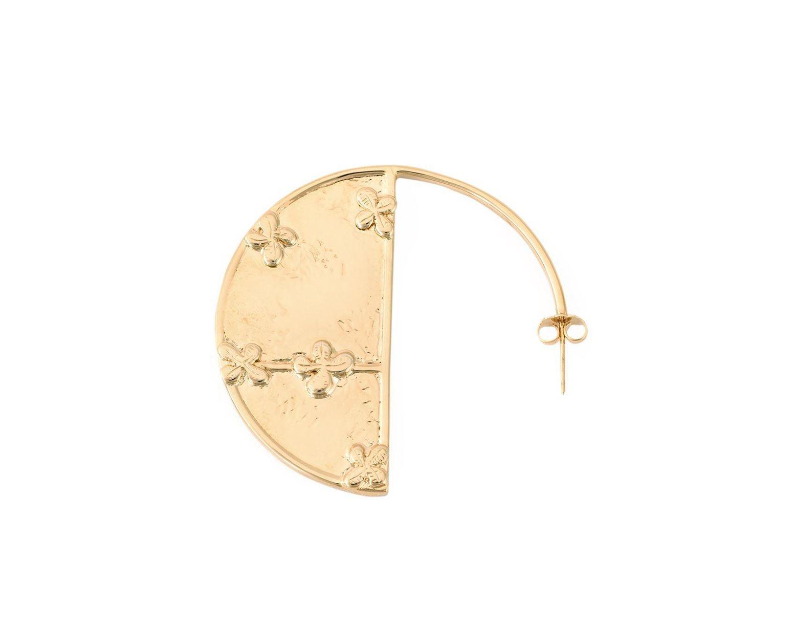 363cd9c897c41 Women's Metallic 'bianca' Reversible Mirror Hoop Earrings