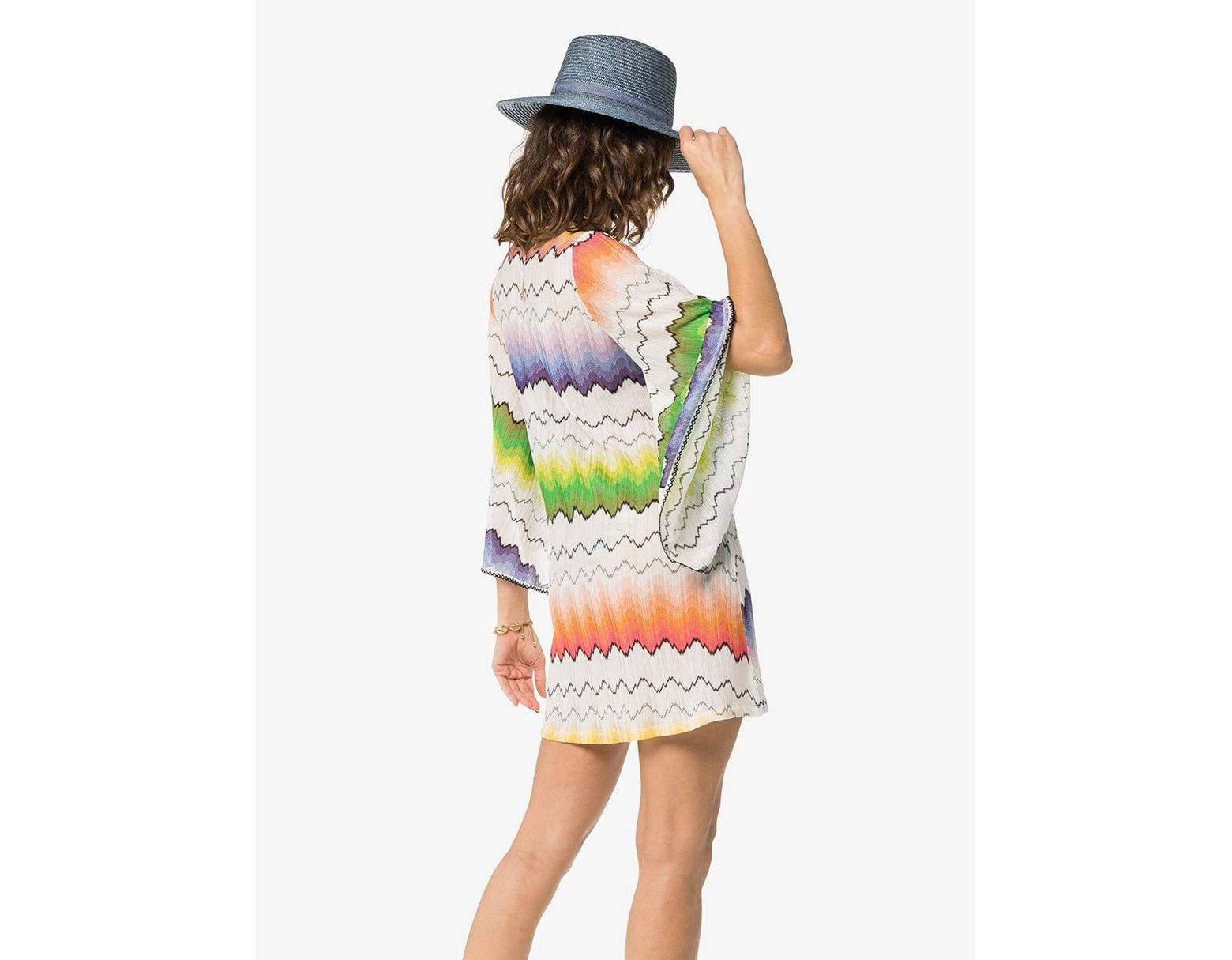 aac4dc04e3 Missoni Lace Up Front Kaftan in White - Save 40% - Lyst