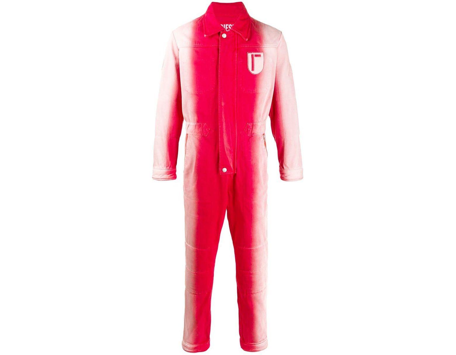 Men's Red Tie-dye Jumpsuit