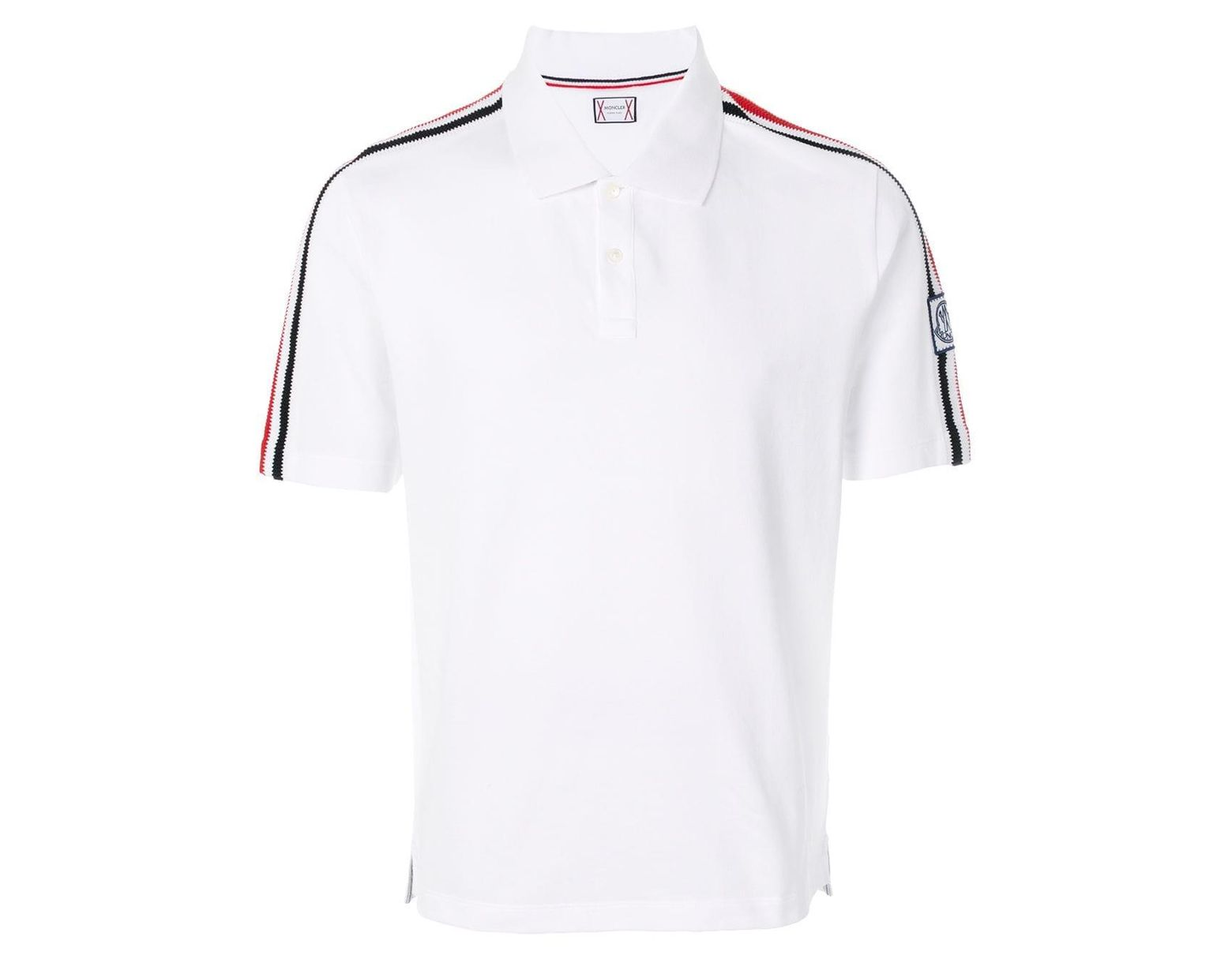 4ec7a1ce8 Men's White Shoulder Strap Polo Shirt