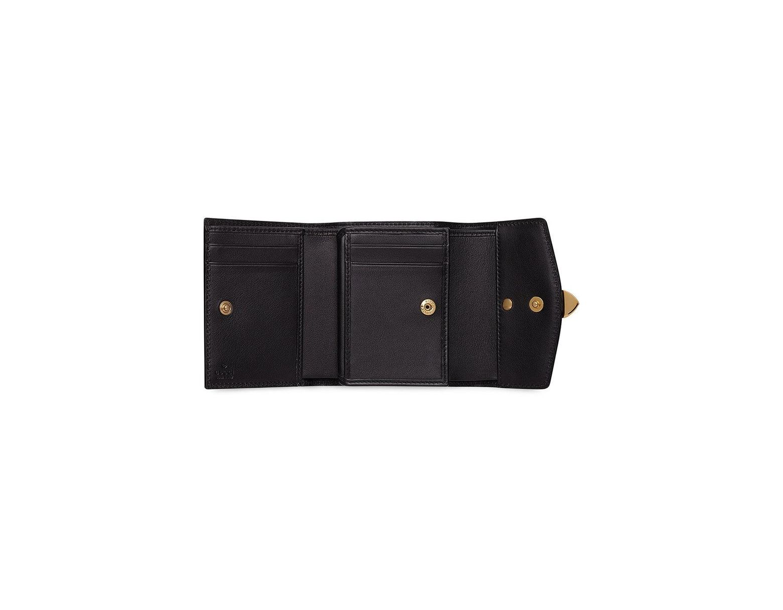8db16447bc91 Gucci Sylvie Leather Wallet in Black - Save 6% - Lyst