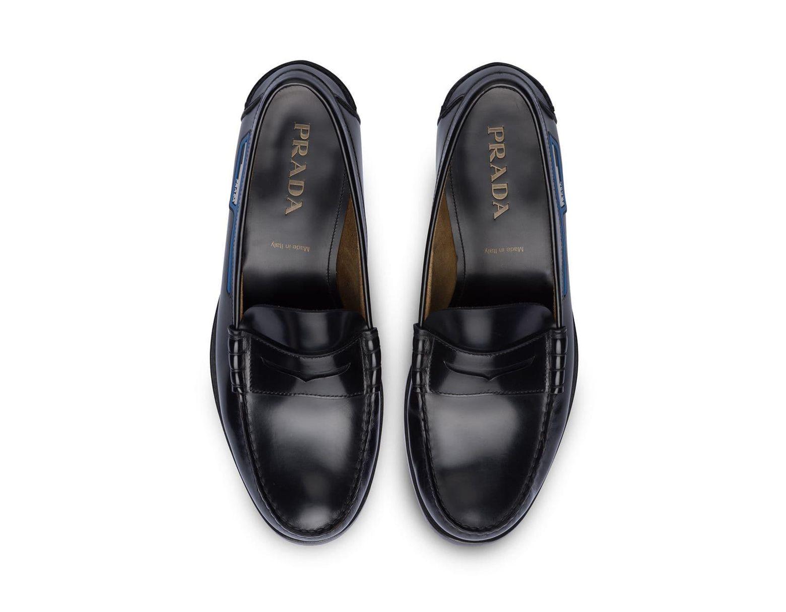 ab42358e Men's Black Logo Loafers