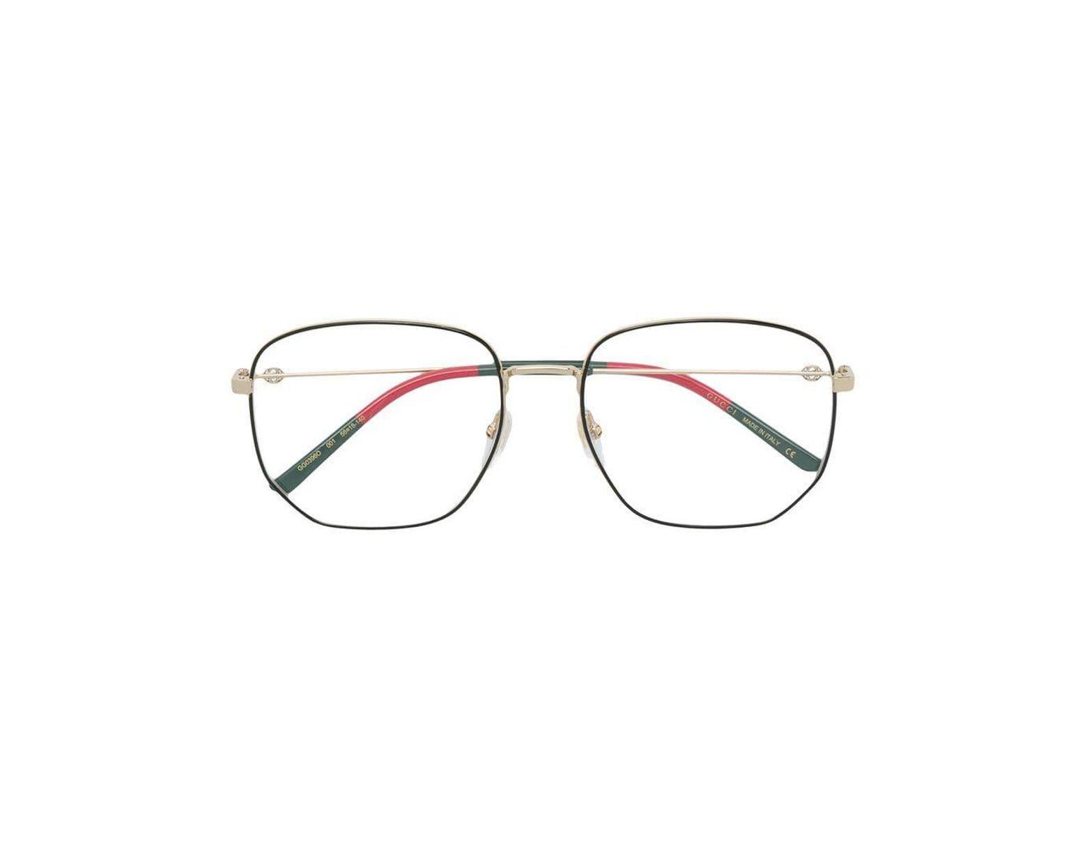 791523d25 Gucci Hexagonal Frame Glasses in Black - Lyst
