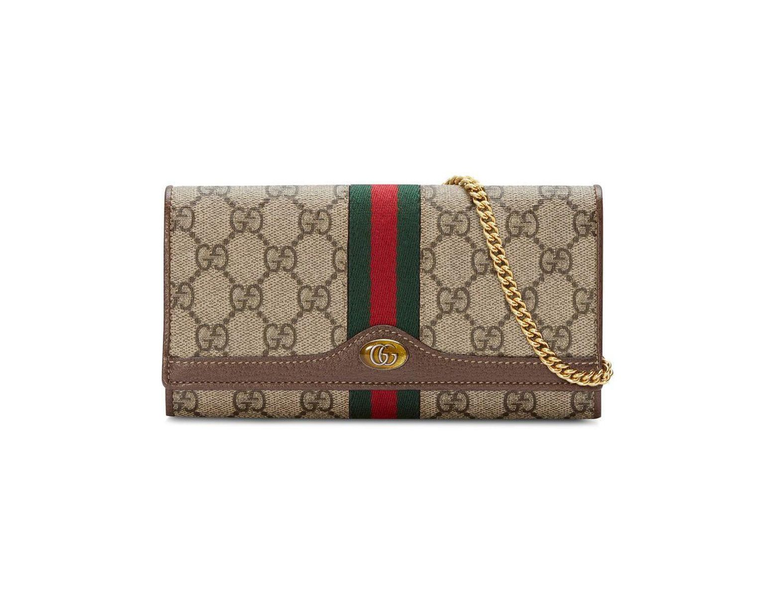 fe952d8f494 Lyst - Gucci Ophidia GG Chain Wallet
