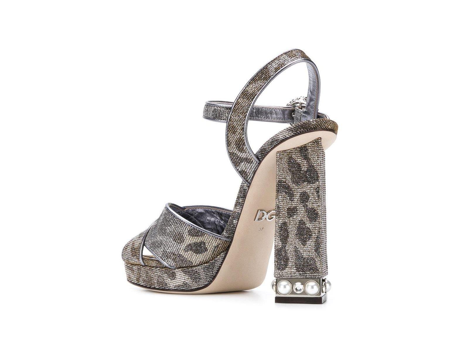 Dolceamp; Sandalias Gris De Color Gabbana Lyst Con Plataforma Joyas 1TcKJlF