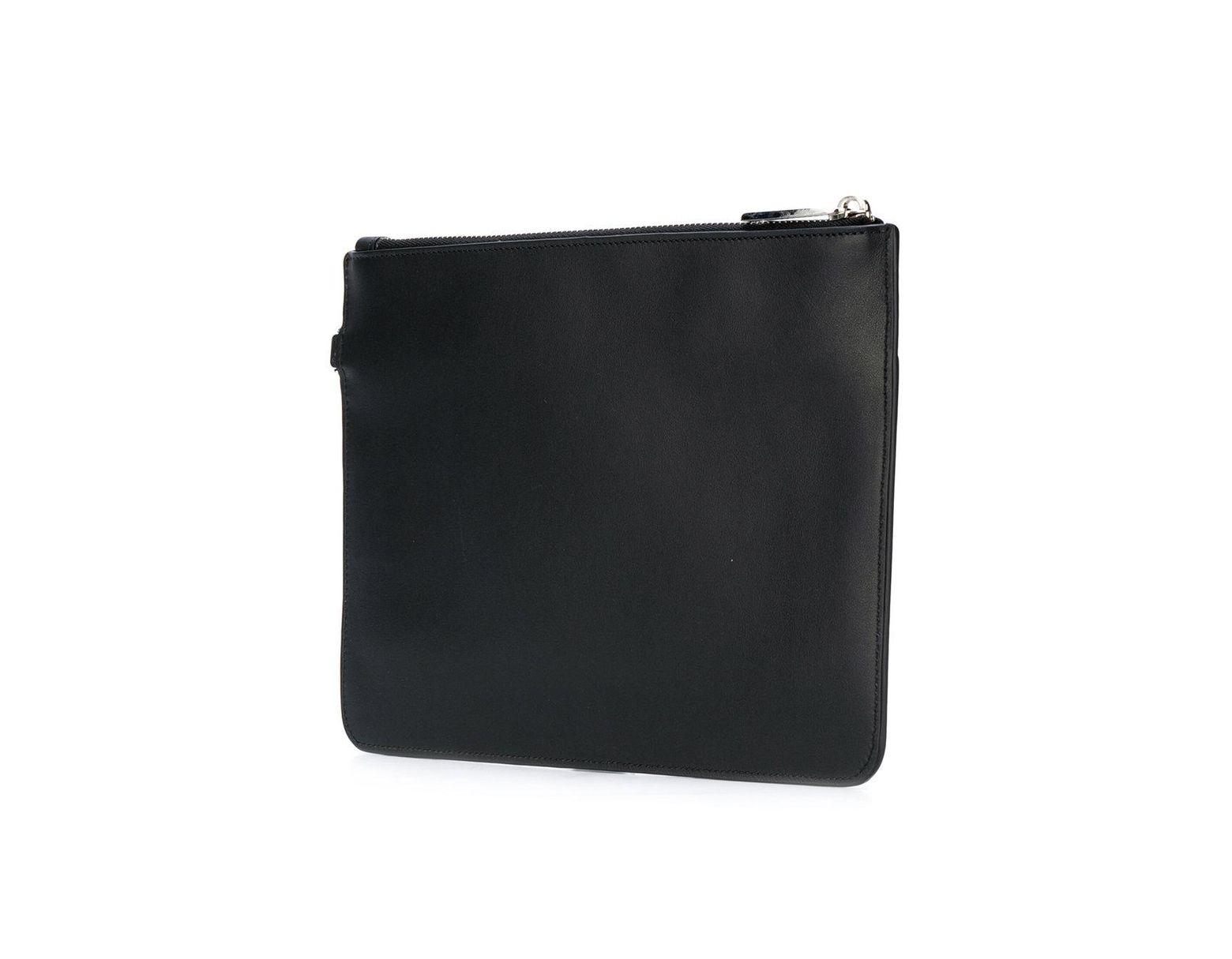 c05ba95b5 Fendi Top-zip Pouch in Black for Men - Lyst
