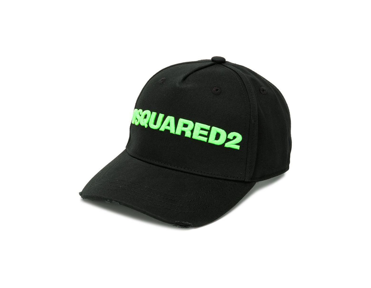 4bd912aa98df1e DSquared² Contrast Logo Baseball Cap in Black for Men - Save 36% - Lyst