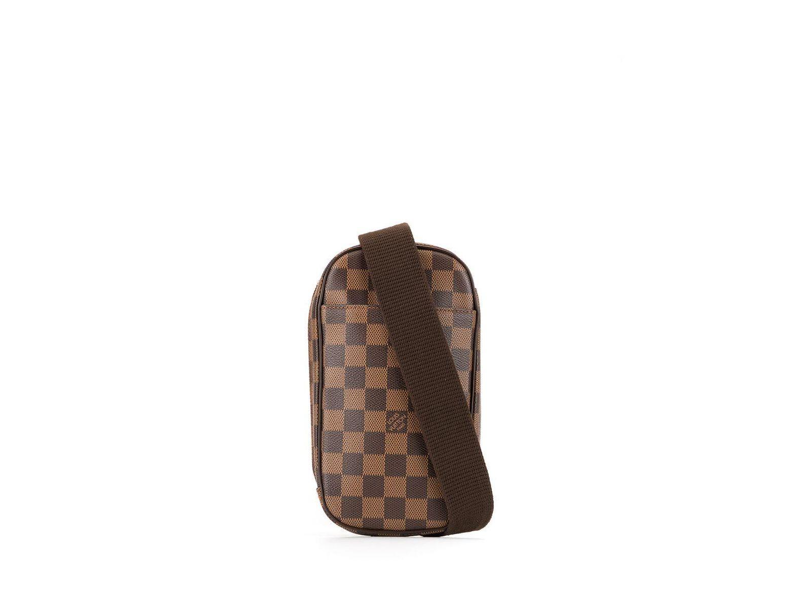 a4d3d452 Louis Vuitton Pre-Owned Gange Belt Bag in Brown - Lyst