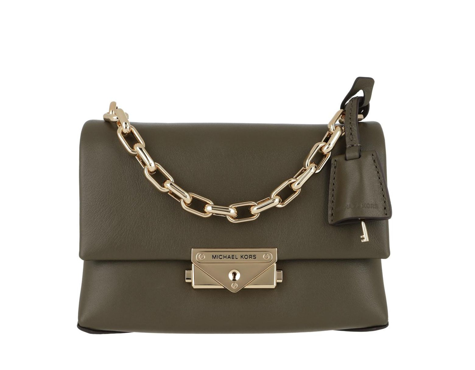 935ed27112 Michael Kors Cece Extra Small Chain Crossbody Bag Olive in Green - Lyst