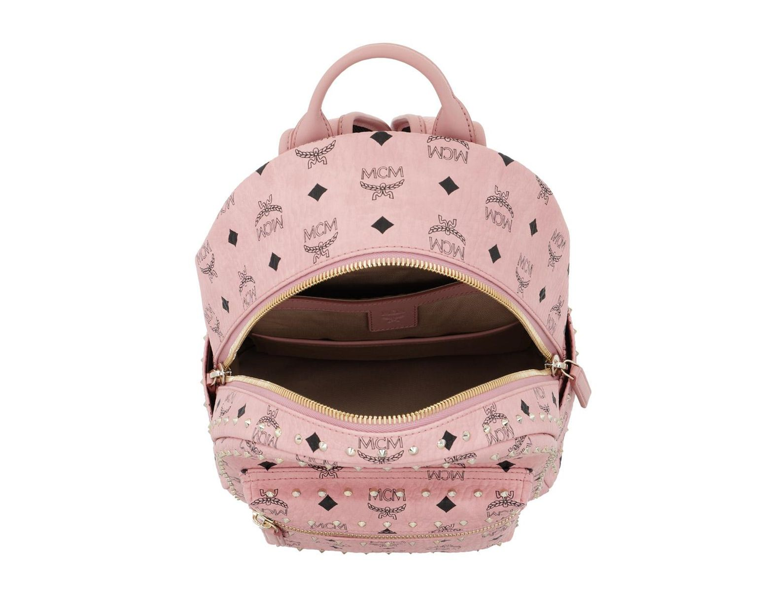 bcf7d0805 MCM Stark Outline Studs Backpack Small Soft Pink in Pink - Save 10% - Lyst