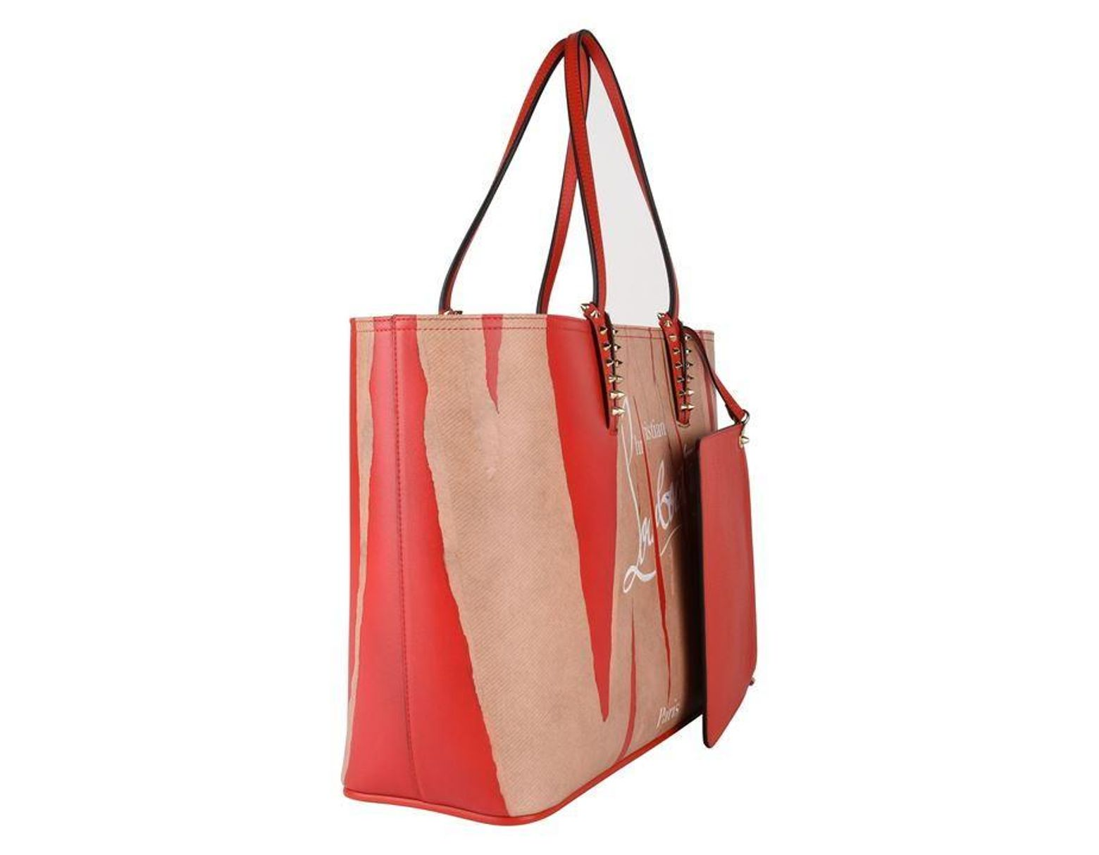 781979a236c Women's Red Cabata Kraft Studded Printed Leather Tote