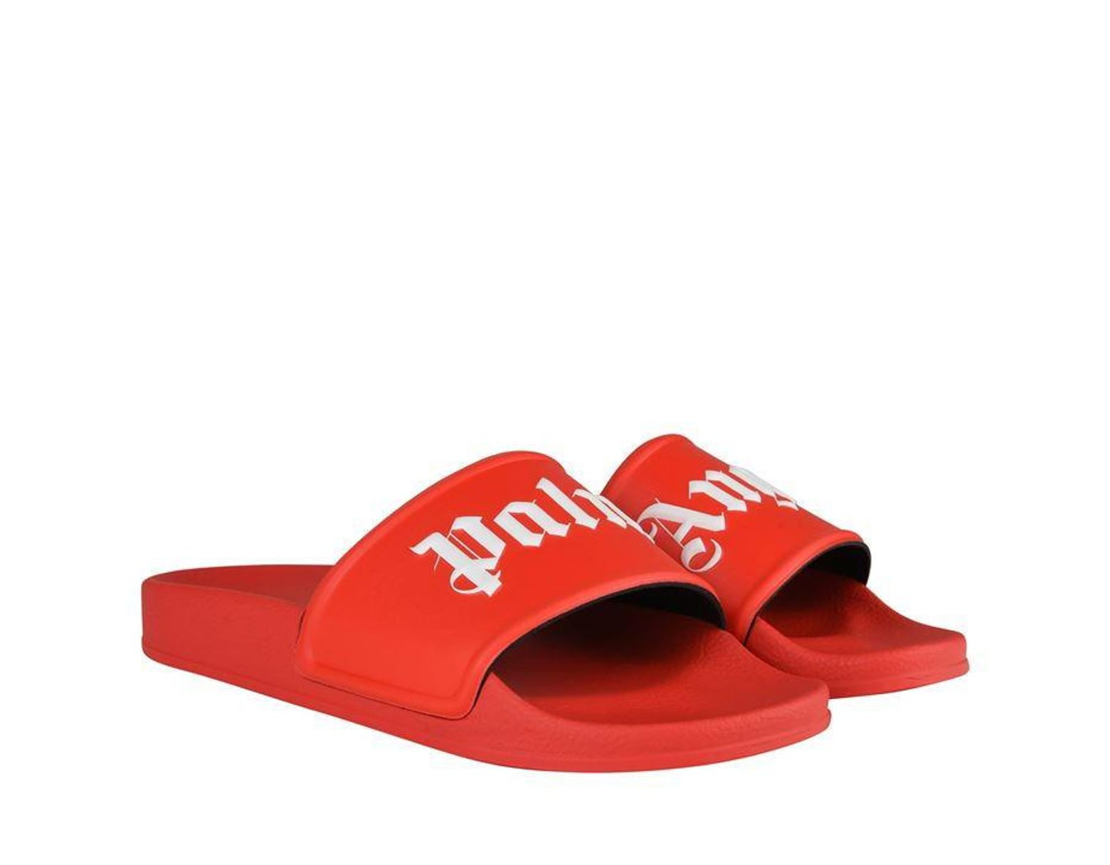 d0207caf3965c Palm Angels Logo Pool Sliders in Red for Men - Save 67% - Lyst