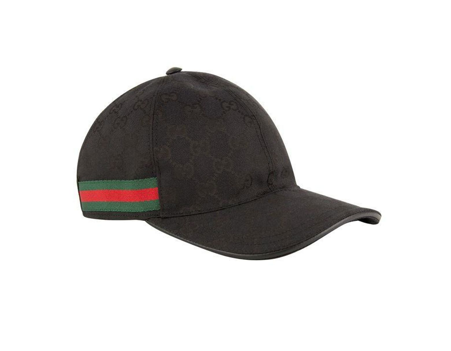 de9a71e9 Men's Black Original GG Canvas Baseball Hat
