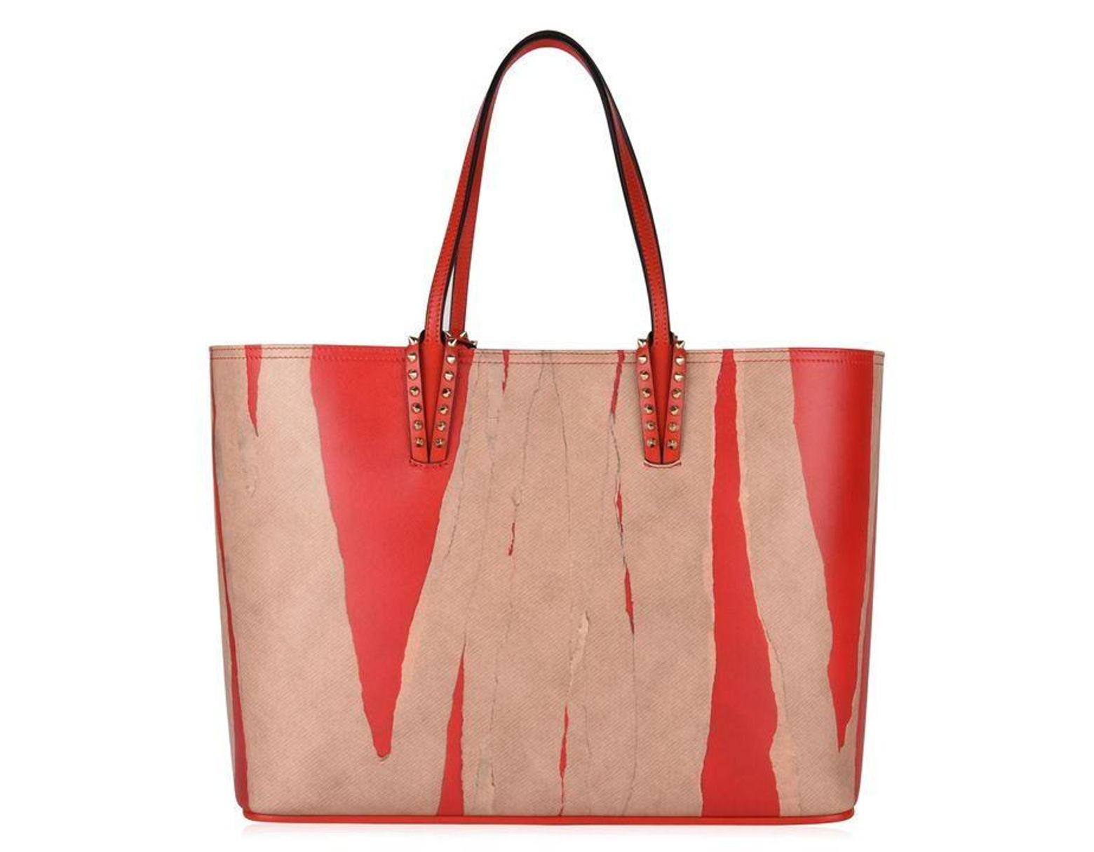 c44131fc3e2 Women's Red Cabata Kraft Studded Printed Leather Tote