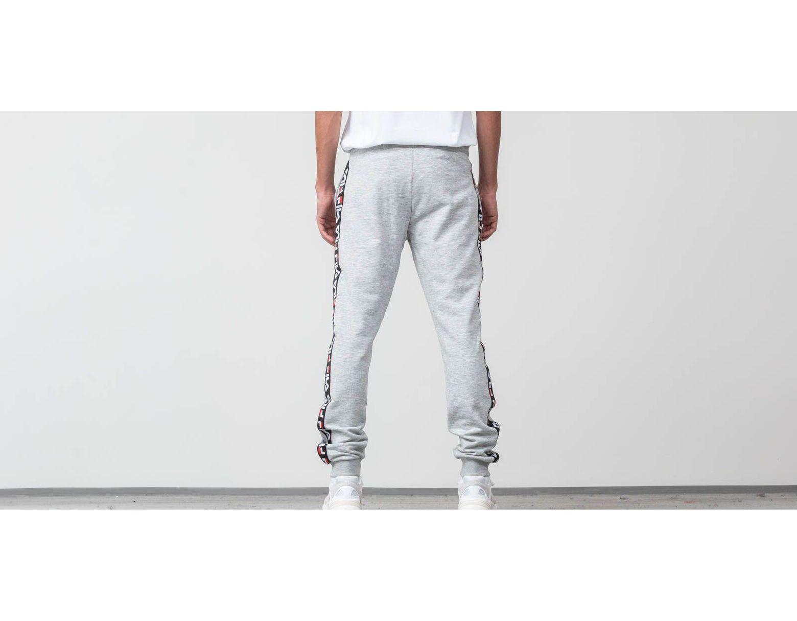Men Tadeo Tape Sweat Pants Light Gray Melange Bros