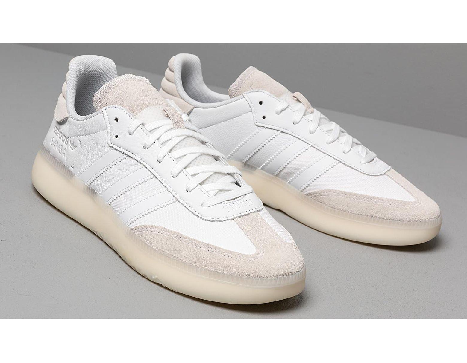 Women's Adidas Samba Rm Ftw White/ Ftw White/ Gray Two