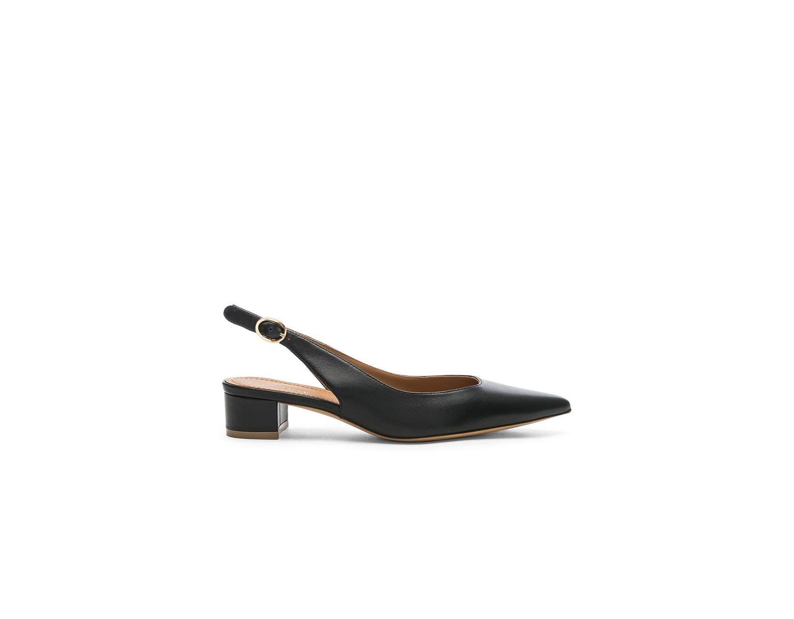 9dea0bc41ca Women's Black Lamb Slingback Heel