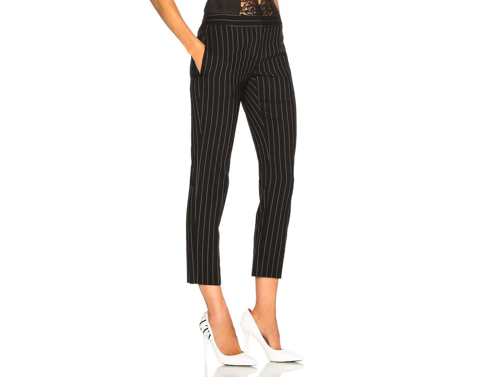 623ccd1817 Women's Black Pinstripe Cigarette Pants